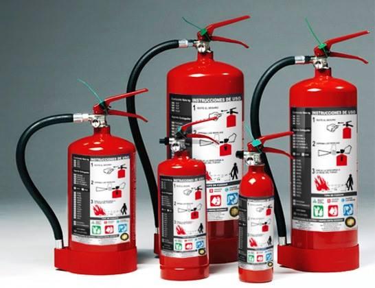 Tipos de extintores por tipo de fuego